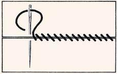 Как сделать косой стежок