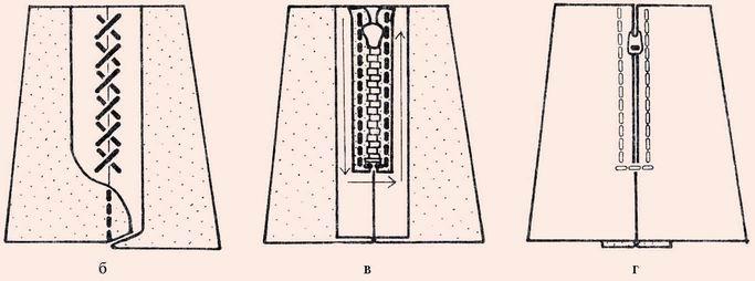 Застежка для юбки фото